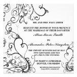 Invitaciones blancas negras de las invitaciones de invitacion personalizada