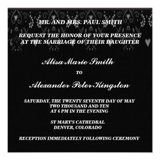 Invitaciones blancas negras de las invitaciones de anuncio