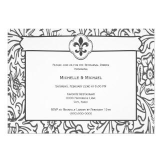 Invitaciones blancas negras elegantes del aconteci