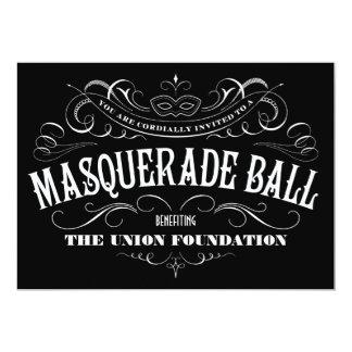 Invitaciones blancos y negros de la bola de invitacion personalizada