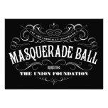 Invitaciones blancos y negros de la bola de mascar invitacion personalizada