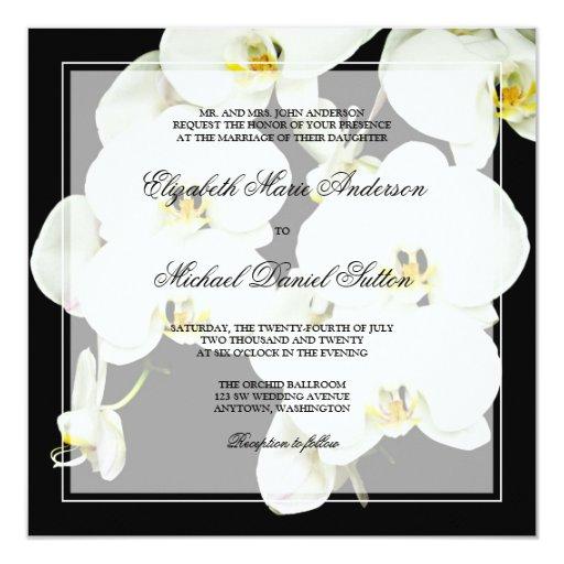 Invitaciones blancos y negros del boda de la invitaciones personalizada