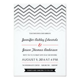 """Invitaciones blancos y negros del boda de Ombre Invitación 4.5"""" X 6.25"""""""