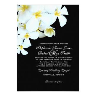 """Invitaciones blancos y negros del boda de playa invitación 5"""" x 7"""""""