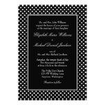 Invitaciones blancos y negros del boda del lunar