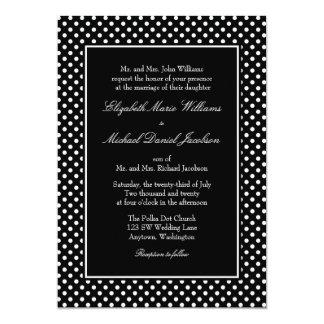 """Invitaciones blancos y negros del boda del lunar invitación 5"""" x 7"""""""