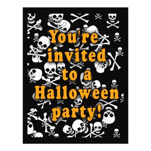 """Invitaciones blancos y negros del fiesta de los cr folleto 8.5"""" x 11"""""""