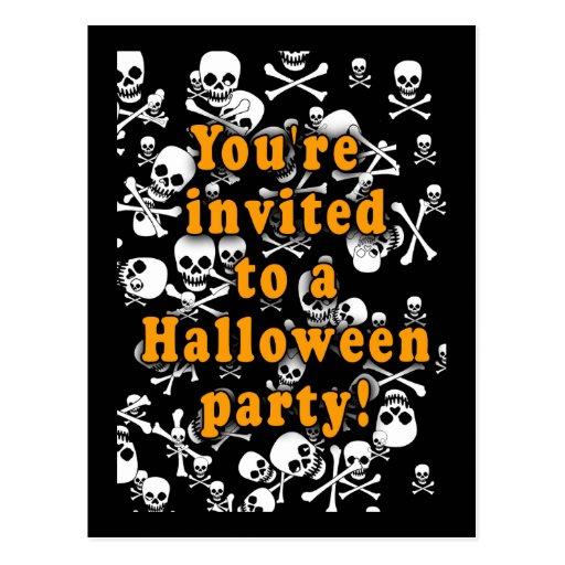 Invitaciones blancos y negros del fiesta de los postales