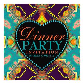 Invitaciones bohemias del fiesta de cena del batik anuncios personalizados