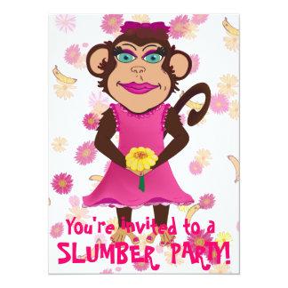 Invitaciones bonitas de la fiesta de pijamas del invitación 13,9 x 19,0 cm