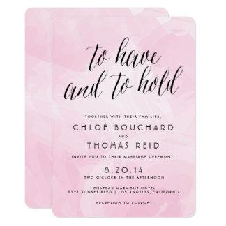 """Invitaciones bonitas del boda de la escritura de invitación 5"""" x 7"""""""