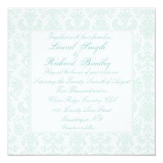 Invitaciones bordadas del boda del damasco invitación personalizada
