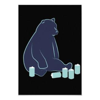 """Invitaciones borrachas del oso invitación 3.5"""" x 5"""""""