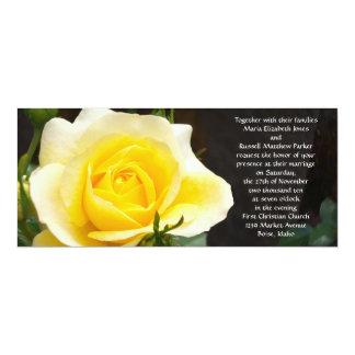 Invitaciones brillantes del boda del rosa amarillo invitación 10,1 x 23,5 cm