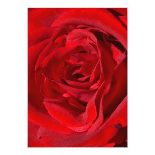 Invitaciones brillantes del rosa rojo invitación 12,7 x 17,8 cm