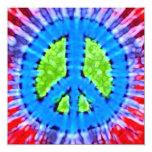 Invitaciones brillantes del signo de la paz del invitación 13,3 cm x 13,3cm