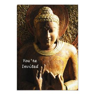 """Invitaciones budistas románticas invitación 5"""" x 7"""""""