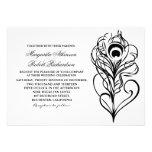 invitaciones caligráficas del boda de la pluma del