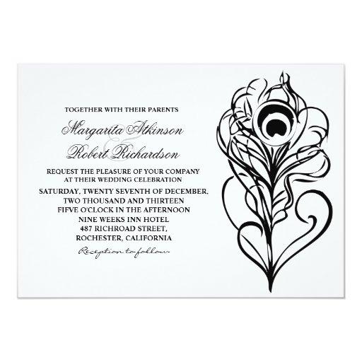 invitaciones caligráficas del boda de la pluma del comunicado personal