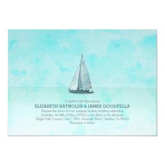 Invitaciones caprichosas del boda del barco comunicados personalizados