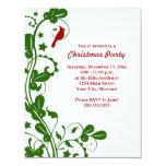 Invitaciones cardinales de la fiesta de Navidad Comunicados Personales