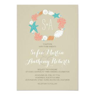 Invitaciones casuales del boda de playa invitación 12,7 x 17,8 cm