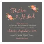 Invitaciones casuales florales rústicas del boda invitaciones personalizada