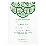 Invitaciones célticas del boda del nudo comunicados personalizados