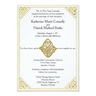 Invitaciones célticas del boda del nudo de amor invitación personalizada