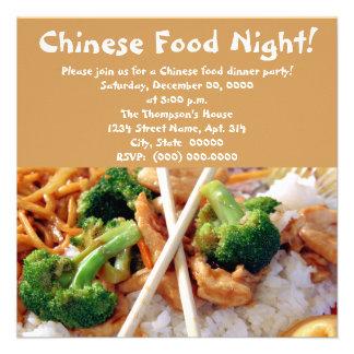 Invitaciones chinas del fiesta de cena de la comid comunicados personales
