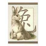 Invitaciones chinas del fiesta del conejo 2011 del anuncios