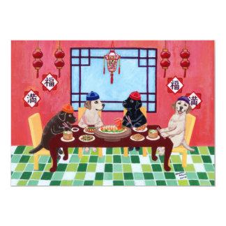 """Invitaciones chinas del fiesta del restaurante de invitación 5"""" x 7"""""""