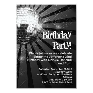 Invitaciones chispeantes de la fiesta de invitación 12,7 x 17,8 cm