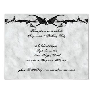 Invitaciones cibernéticas coas alas alambre de invitación 10,8 x 13,9 cm