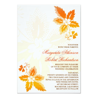 """invitaciones clásicas del boda de las hojas de invitación 5"""" x 7"""""""