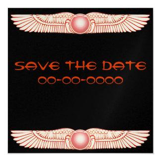 """Invitaciones coas alas Anunnaki sumerias del disco Invitación 5.25"""" X 5.25"""""""