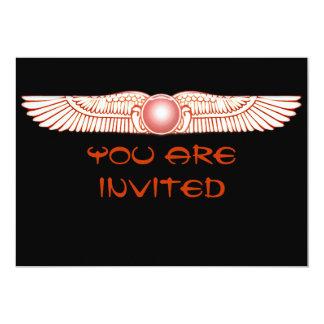 """Invitaciones coas alas Anunnaki sumerias del disco Invitación 5"""" X 7"""""""