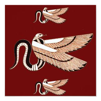 """Invitaciones coas alas egipcio antiguo de la invitación 5.25"""" x 5.25"""""""