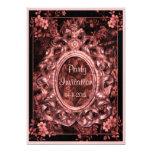 Invitaciones color de rosa 5x7 del fiesta del invitación 12,7 x 17,8 cm