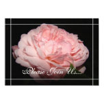 Invitaciones color de rosa coralinas de la anuncio