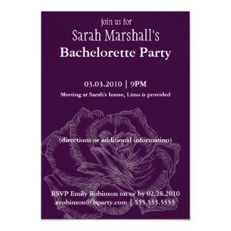 Invitaciones color de rosa del fiesta de invitación 12,7 x 17,8 cm