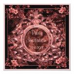 Invitaciones color de rosa del fiesta del cuadrado invitación 13,3 cm x 13,3cm