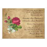 Invitaciones color de rosa fucsias del boda del invitacion personalizada