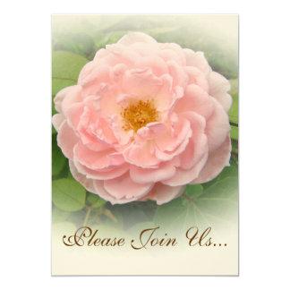 """Invitaciones color de rosa rosadas de Weddding Invitación 5"""" X 7"""""""