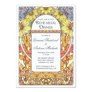 Invitaciones coloridas de la cena del ensayo del invitación 12,7 x 17,8 cm