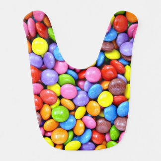 Invitaciones coloridas del caramelo baberos para bebé