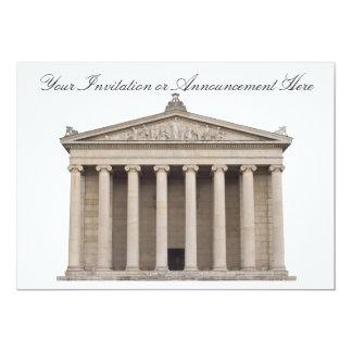 Invitaciones con arquitectura clásica anuncio