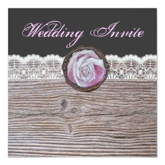 """Invitaciones con clase del boda de los rosas invitación 5.25"""" x 5.25"""""""