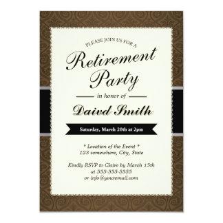 Invitaciones con clase del fiesta de retiro del invitación 12,7 x 17,8 cm