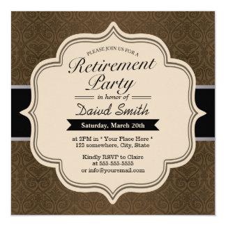"""Invitaciones con clase del fiesta de retiro del invitación 5.25"""" x 5.25"""""""